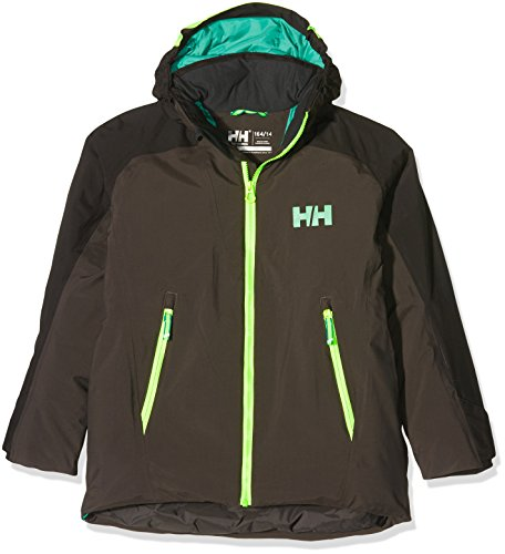 Helly Hansen Kinder JR Stuben Jacket Skijacke, Schwarz-(Ebony), - Ski-jacken Für Mädchen-größe 14
