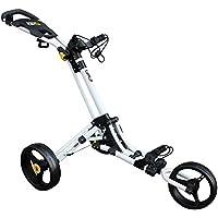 iCart Go 3 Wheel Golf Trolley (White / Yellow)
