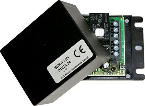 Preisvergleich Produktbild SVS Nachrichtentechnik SHR-12 K1 - 1-Kanal-Empfänger mit Schaltfunktion, Tast- oder Timerbetrieb