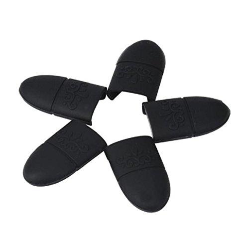 BZLine® 10Pcs Pinces à Ongles / Nail Remover en Silicone - Outil de Décapage de Vernis à Ongles - Noir