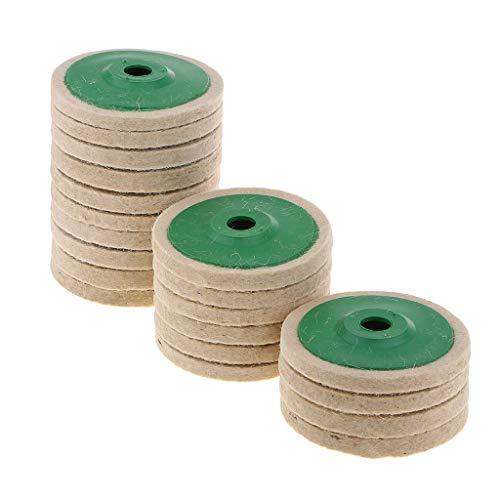20 Stück Filzscheibe Schleifscheibe Polierköpfe Rotationsteller, Hohe Verschleißfestigkeit, für Winkelschleifer, 100 x 16 mm
