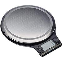 AmazonBasics - Báscula de cocina digital con pantalla LCD, sin bisfenol A (BPA), de acero inoxidable (pilas incluidas)