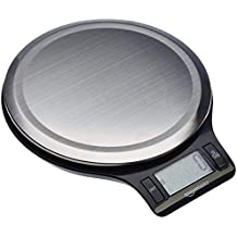 AmazonBasics Stainless Steel Digital Kitchen Scale with LCD Display (Batteries Included), 5Kg (Black)