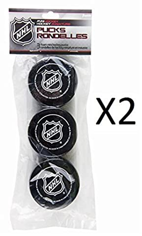 Franklin NHL Soft Sponge Mini Knee Hockey Pucks 3 Pieces Durable New by Franklin Sports