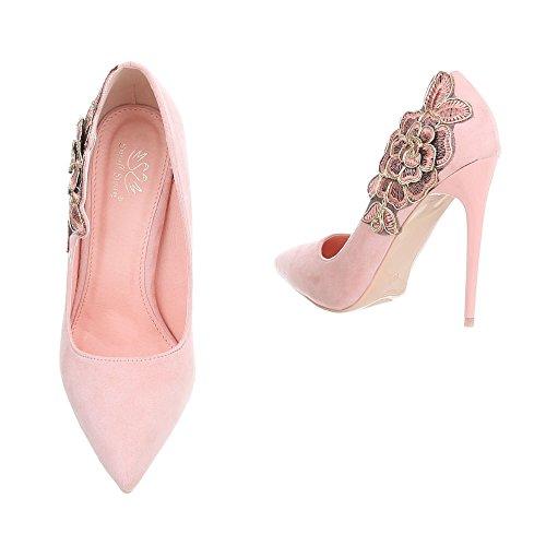 Ital-Design Escarpins Pour Femme Pink HS61