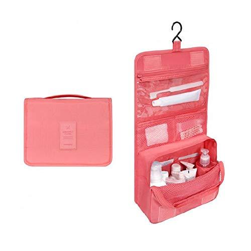 LYX Hängende wasserdichte Kosmetiktasche Reise Kosmetiktasche Aufbewahrungstasche Kosmetik und Körperpflegeprodukte für Ihre Bedürfnisse (Color : Pink)