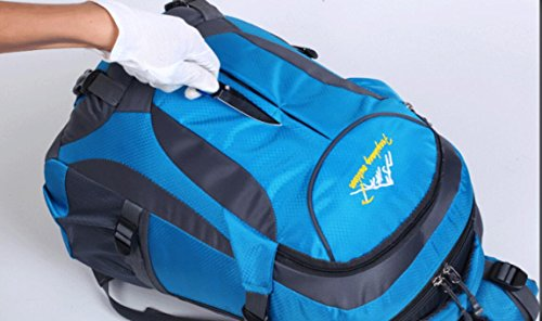 LQABW Outdoor Casual Nylon Impermeabile Durevole Un'escursione Zaino Della Spalla Di Modo Coppia Di Professionisti Alpinismo Uomini Borsa E Donne Walking Backpack,Blue Black