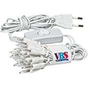 VBS 3910420, VBS Mini-Lichterketten mit Schalter, weiß 20er, weiß (Spielzeug)