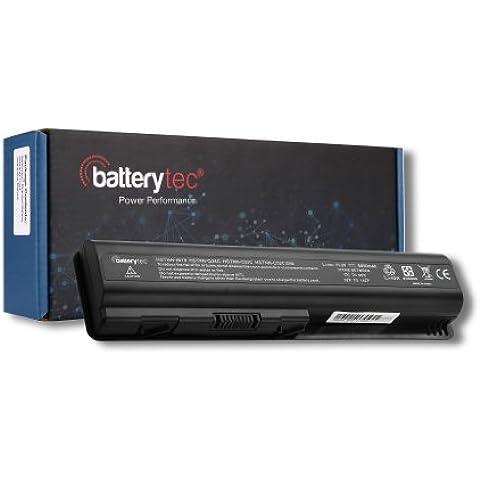 Batterytec ® Batteria del computer portatile per HP Pavilion dv4 dv5 dv6 compaq CQ40, CQ45,CQ50-100 ,,CQ50 ,,CQ60-100, CQ60-200,CQ60-300,, CQ70-100,497694-001 498482-001 484170-001 484170-002 485041-001[10.8V 4400mAh 12 mesi di garanzia]