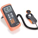 Digital Light Meter, Handheld 200,000 Lux Lux Meter with High Precision, Fast Reactions and Data Retention