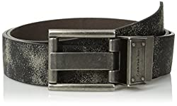 Calvin Klein Mens Vintage Leather 4-In-1 Reversible Belt,Black,34