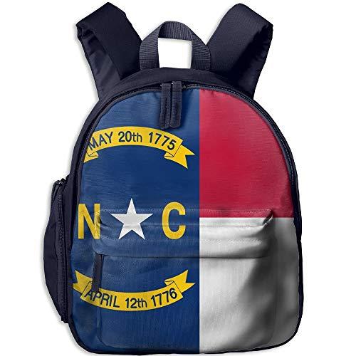 (Flag of North Carolina Kid and Toddler Student Backpack School Bag Super Bookbag)