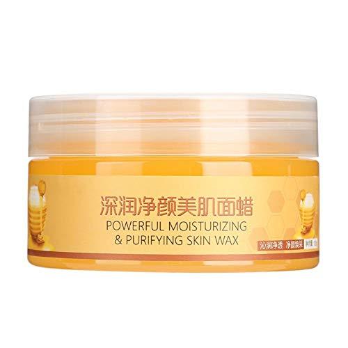 Gesichtsmaske - Honig-Extrakt Gesichtsmaske feuchtigkeitsspendende Mitesserentferner Pore Straffende Gesichtsmaske 120g