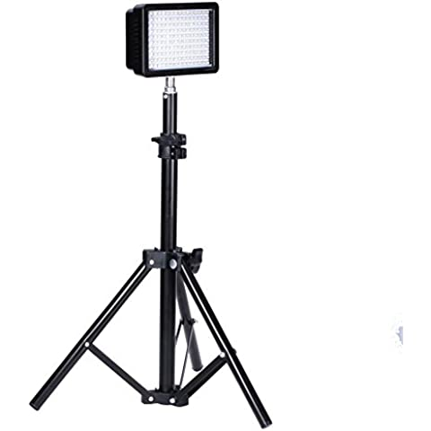 Bestlight® Fotografía 160 LED Kit de iluminación de estudio, incluye (1) Ultra Alta Potencia 160 LED Vídeo Luz Panel Digital Cámara réflex digital Videocámara LED Luz de vídeo (1) Fotografía Mini soporte de Luz de altura de 32