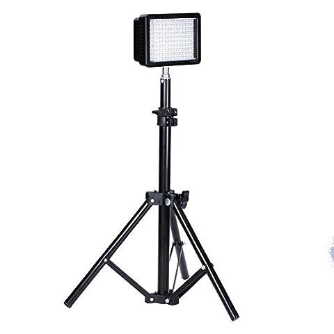 Bestlight Photographie 160 LED Studio Vidéo Lumière Torche Vidéo Flash LED Kit, Compris (1) CN-160 Réglables Ultra Haute Puissance Panneau DSLR Caméscope LED Vidéo Lumières (1) 32