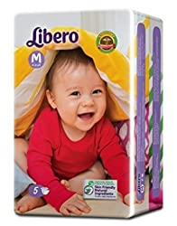 Libero Open Diaper (5 Counts ) Pack of 8(Medium Size)