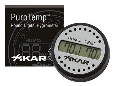 Xikar Purop Temp Digital-Hygrometer Rund