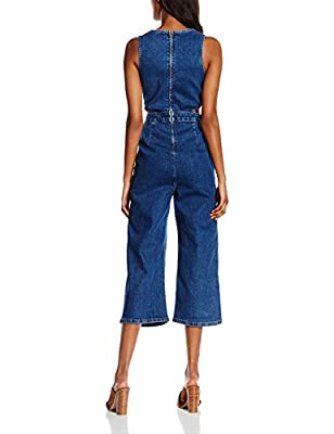 New Look Women's Cutout Ice Tea Dungarees