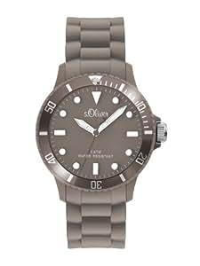s.Oliver Unisex-Armbanduhr Medium Size Silikon grau SO-2306-PQ