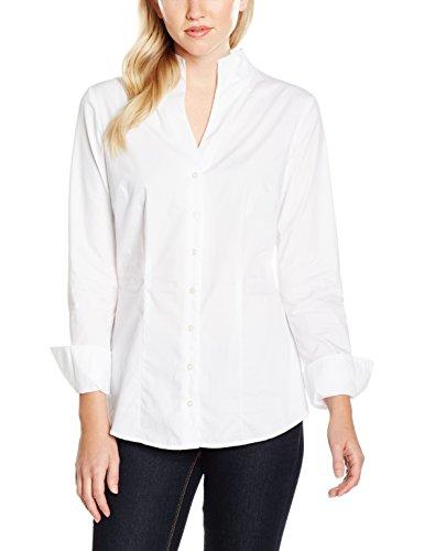 Redford Damen Bluse Slim Fit, Weiß (Weiß 01), 38