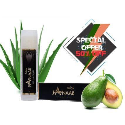 JANAAB LIP LIGHTENER 5GM for Men, Boys, Smokers - 100% Natural Whitening Lip Balm Lightens - Protect from Dry Lips