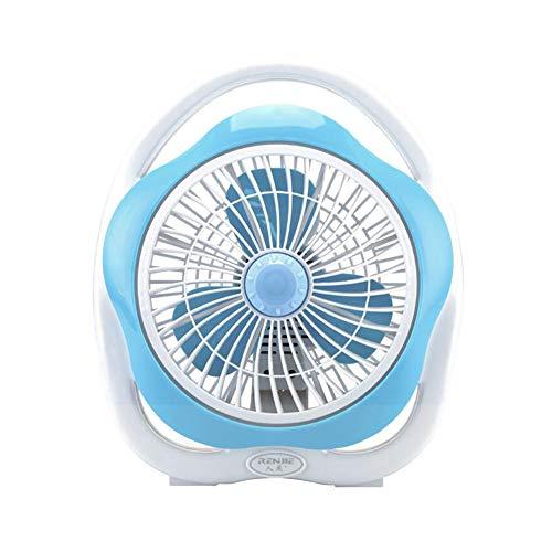 XUERUI Ventilatoren Elektrisch Ventilator Mini Schreibtisch Tabelle Niedrig Lärm Persönlich Kühlung Sehr Leise 2 Geschwindigkeit Desktop Zuhause Büro Reise (Color : Blue) -