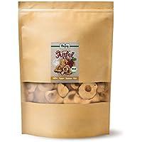 Biojoy Manzanas desecadas bio | 100% trozos de manzana sin azúcar añadido y óxido de azufre | chips de manzana bío sin azúcar y conservantes | rodajas de manzana natural sin azufre (1 kg)