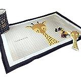 VClife Teppich Baumwolle Polyester Kinderteppich Spielteppich Baby Karbbeldecke Kindchen Geschenk Gepolsterte Matte 145x190cm Giraffe