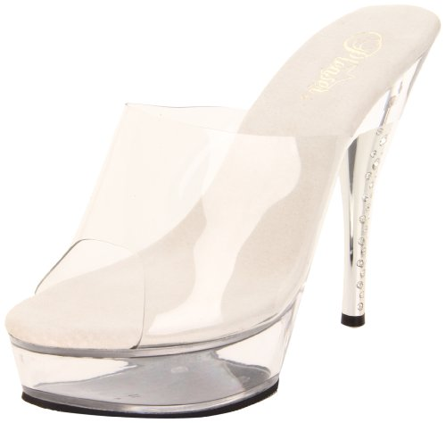 Pleaser Diamond-601 - Sexy Plateau High Heels Sandaletten 35-43, Größe:EU-37 / US-7 / UK-4 Diamond High Heel