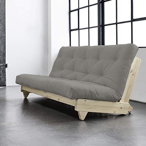 Alfred & Compagnie Soldes Couch Convertible + Futon Ellen, 140 x 200 cm, Kiefer, naturfarben lackiert -