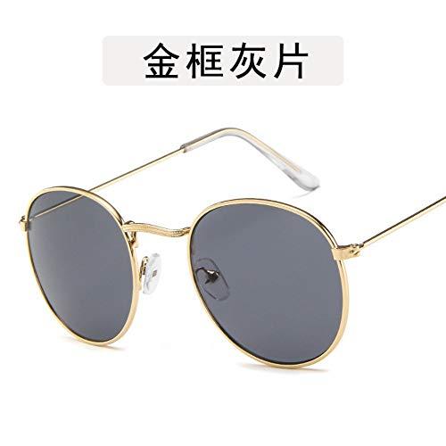 Sonnenbrille Kleine Runde Sonnenbrille Frauen Männer Aviation Auge Sonnenbrille Metallrahmen Sonnenschutz Für Frauen Top Selling Gold Grau