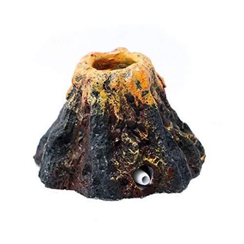 Trifycore Mode-Perlen-Shell Coral Vulkan-Form-Spielzeug Aquarium-Verzierung-Fisch-Behälter-Luftpumpe Sauerstoff Bubble Bomb Ausströmer Antrieb Dekoration, Fisch und Wasserzubehör (Aquarium Dekoration Luftpumpe)