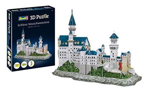 Revell 3D Puzzle 00205 Schloss Neuschwanstein von Ludwig II. von Bayern Die Welt in 3D entdecken, Bastelspass für Jung und Alt, farbig - City Ziel Lego