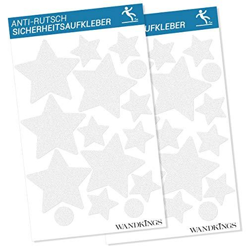 Wandkings Anti-Rutsch-Sticker - Sterne - 30 Aufkleber - für mehr Sicherheit im Badezimmer