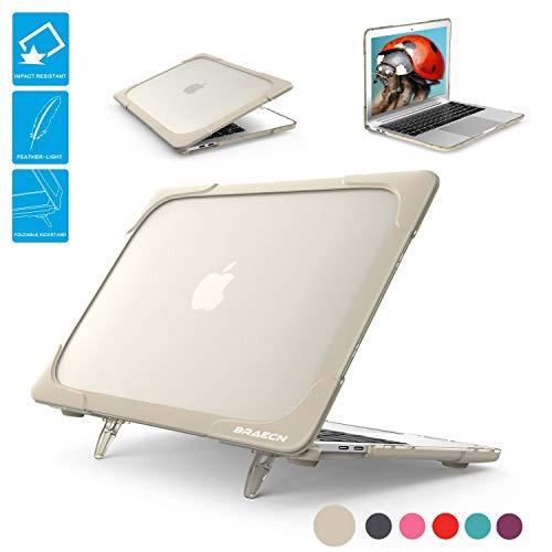 BRAECNstock MacBook Air13 Hülle 2018 A1932 [Heavy Duty] [Dual Layer] Soft Touch Hard Cases mit TPU Bumper für Apple MacBook Air 13