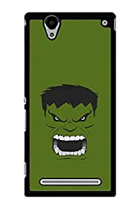 Caseque Incredible Hulk Back Shell Case Cover for Sony Xperia T2