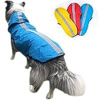 Idepet 2-in-1 giacca impermeabile per cani impermeabile, tuta leggera per animali domestici poncho antipioggia…