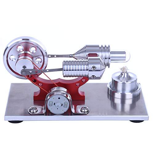 Sunbary Stirlingmotor Bausatz, Stirlingmotor Generator Stirling Engine Kit Dampfmaschine Pädagogisches Spielzeug Geschenk für Kinder und Technikbegeisterte