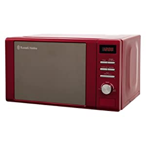 Russell Hobbs RHM2064R Heritage Digital 800w Solo Microwave, 20 Litre - Red
