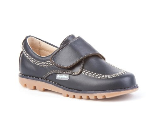 Chaussures pour enfants tout cuir, Mod. 301. Chaussure Enfant Made in Spain, garantie de qualité. Bleu Marine