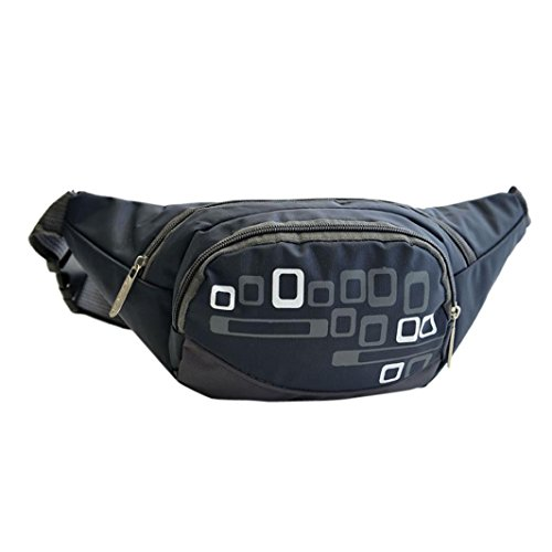 Camping Kariert Stil Gürteltasche Taschen sunnymi Waist Packs Fit für Wasser in Flaschen, Geldbeutel, Brille, Handys SLR-Digitalkamera (dunkelblau)