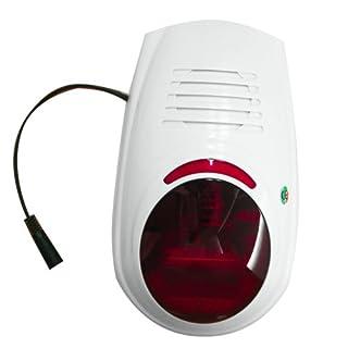 Multi Kon Trade: Funk Aussensirene mit Blitzlicht für unsere Alarmanlagensysteme * 433 MHZ *