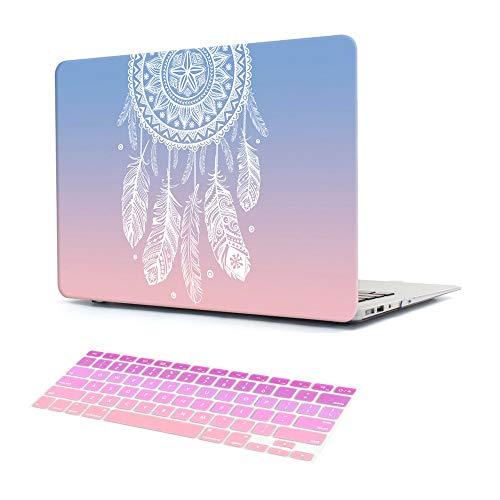 """Dongke - Carcasa rígida para Apple MacBook Pro 13, 15 Pulgadas, Air 13, 11 y 12 Retina, diseño de atrapasueños Rosa Pink Gradient MacBook Pro Retina 13"""" (A1502/A1425)"""