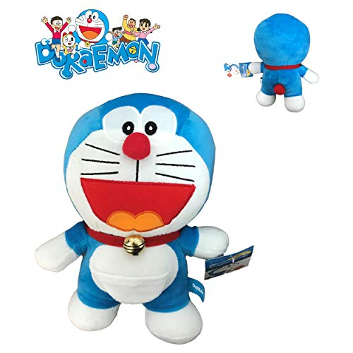 Stuffed Plush DORAEMON Robot Cat Who laughs OPEN MOUTH 20cm - Original and OFFICIAL
