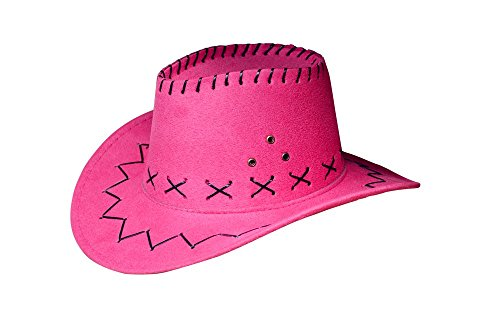 Cowboyhut Westernhut Cowgirl australien Texas Cowboy Hut Hüte Western für Erwachsene und Kinder (One size, Pink für Kinder)