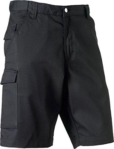 Neu Russell Collection Poly/Baumwolltwill Arbeitskleidung Shorts Herren Außen Works Shorts - Convoy Grau, W30 x Regulär (Baumwolle Shorts Russell)