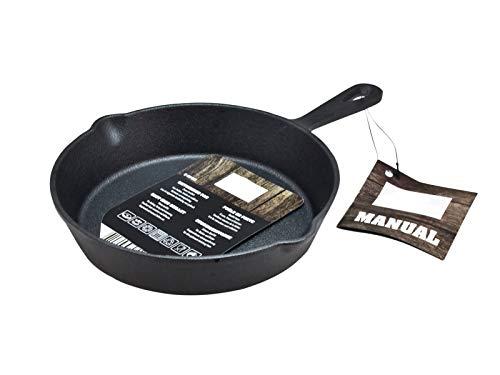 Spetebo Gusseisen Pfanne 15 cm - Gusspfanne mit Griff - Grill Pfanne Bratpfanne Induktion Servierpfanne