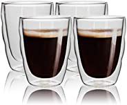 Double Wall Glass, Insulated Glass Coffee Mug, Espresso Cups,Tea Cups,Glass Cups,Coffee Glass,Latte Cups,Beverage Glasses,Cr