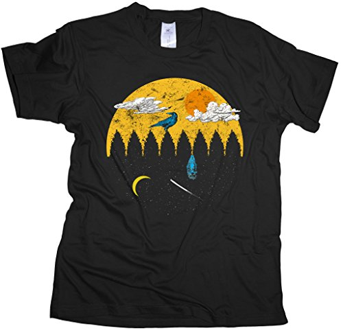 Ma2ca® Sunbird Eule Rabe T-Shirt Herren T-Shirt BC150-black-xxl