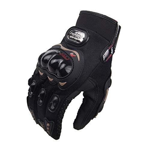 Bruce Dillon Guanti moto off-road da uomo guanti da moto full finger riding moto off-road guanti moto off-road moto -Nero X XL